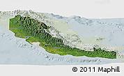 Satellite Panoramic Map of Central, lighten
