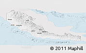Silver Style Panoramic Map of Central, single color outside