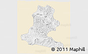 Classic Style 3D Map of Chimbu, single color outside