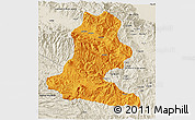 Political 3D Map of Chimbu, shaded relief outside