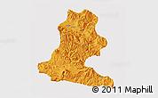 Political 3D Map of Chimbu, single color outside