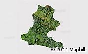 Satellite 3D Map of Chimbu, cropped outside