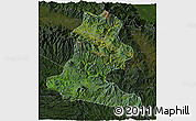 Satellite 3D Map of Chimbu, darken