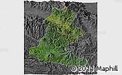 Satellite 3D Map of Chimbu, desaturated