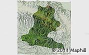 Satellite 3D Map of Chimbu, lighten