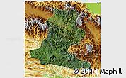 Satellite 3D Map of Chimbu, physical outside