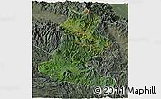 Satellite 3D Map of Chimbu, semi-desaturated
