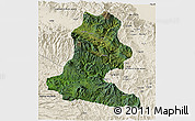 Satellite 3D Map of Chimbu, shaded relief outside