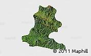 Satellite 3D Map of Chimbu, single color outside