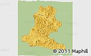 Savanna Style 3D Map of Chimbu, single color outside