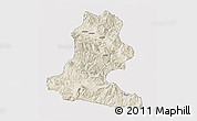Shaded Relief 3D Map of Chimbu, cropped outside