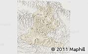 Shaded Relief 3D Map of Chimbu, lighten