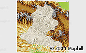 Shaded Relief 3D Map of Chimbu, physical outside