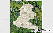 Shaded Relief 3D Map of Chimbu, satellite outside