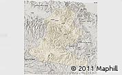 Shaded Relief 3D Map of Chimbu, semi-desaturated