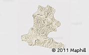 Shaded Relief 3D Map of Chimbu, single color outside
