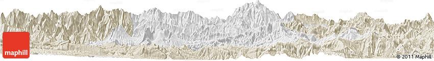 Classic Style Horizon Map of Chimbu