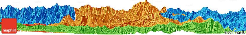 Political Horizon Map of Chimbu