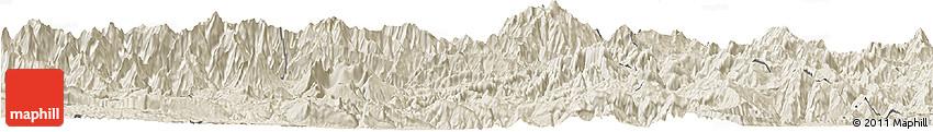 Shaded Relief Horizon Map of Chimbu