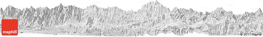 Silver Style Horizon Map of Chimbu