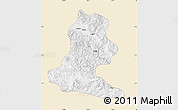 Classic Style Map of Chimbu, single color outside