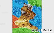 Physical Map of Chimbu, political outside