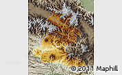 Physical Map of Chimbu, semi-desaturated