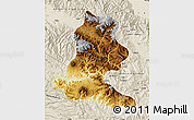Physical Map of Chimbu, shaded relief outside
