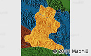 Political Map of Chimbu, darken