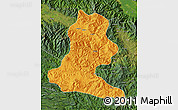 Political Map of Chimbu, satellite outside