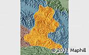 Political Map of Chimbu, semi-desaturated