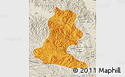 Political Map of Chimbu, shaded relief outside