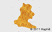 Political Map of Chimbu, single color outside