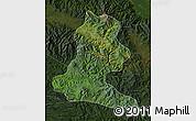 Satellite Map of Chimbu, darken