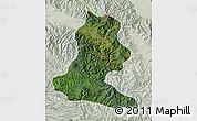Satellite Map of Chimbu, lighten