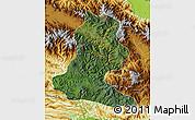 Satellite Map of Chimbu, physical outside