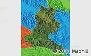 Satellite Map of Chimbu, political outside