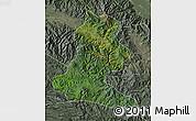 Satellite Map of Chimbu, semi-desaturated