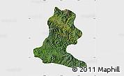 Satellite Map of Chimbu, single color outside