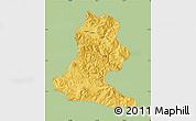 Savanna Style Map of Chimbu, single color outside