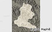 Shaded Relief Map of Chimbu, darken