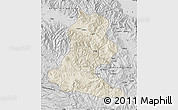 Shaded Relief Map of Chimbu, desaturated