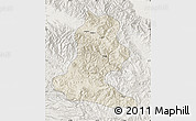 Shaded Relief Map of Chimbu, lighten
