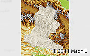 Shaded Relief Map of Chimbu, physical outside