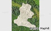 Shaded Relief Map of Chimbu, satellite outside