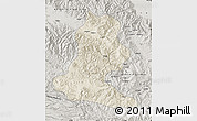 Shaded Relief Map of Chimbu, semi-desaturated