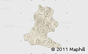 Shaded Relief Map of Chimbu, single color outside
