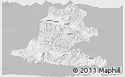 Gray Panoramic Map of Chimbu, single color outside