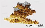 Physical Panoramic Map of Chimbu, cropped outside