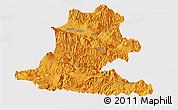 Political Panoramic Map of Chimbu, cropped outside